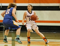 JIM BESEDA, MOLALLA PIONEER - Molalla junior Rylee Elliott is oneof 10 returning players on the Indians' 2015-16 girls' basketball varsity roster.