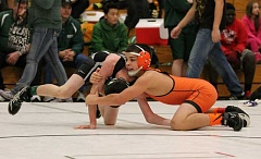 JIM BESEDA/MOLALLA PIONEER - Molalla's Wyatt Perkins qualified for the OSAA Class 4A wrestling state tournament last season as a freshman.