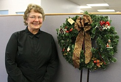 OUTLOOK PHOTO: ANNE ENDICOTT - Troutdale resident, and first entrant, Patti Gossett is the Best of Show winner in this years Outlook Cookie Contest. Patti wowed judges with a rich, dark molasses cookie, decorated with a snowflake and packaged in individual seasonal cellophane bags.