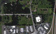 MAP COURTESY GOOGLE MAPS - The site under consideration is zoned for regionally significant industrial facilities and a minimum of three story buildings; a waiver for the latter would have to be approved.