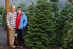 TIMES PHOTO: JAIME VALDEZ - Jon and Su Schatz are the owners of Sunny Day Tree Farm in Sherwood.