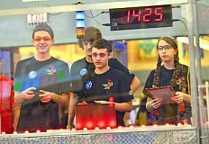 TIDINGS FILE PHOTO - Wilsonville Robotics, which includes West Linn High School students, qualified for the FIRST International competition in St. Louis this past year.