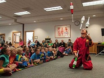 PAMPLIN FILE PHOTO - Last year Wilsonville's Mad Science programs, which are back in 2016, featured a comedic juggler during one of its sessions.