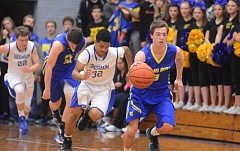 THE OUTLOOK: DAVID BALL - Barlow point guard Colton Archer speeds down the sideline on a fast break after scooping up a loose ball in Greshams end.