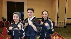 CONTRIBUTED PHOTO: LEO HOEFT - Students in Leo Hoeft's karate studio preformed well in the 2015 world games, organized by the National Blackbelt League.