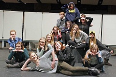 REVIEW PHOTO: JILLIAN DALEY - Lakeridge High School students are working hard this week on a musical medley, 'Dream a Little Dream,' which opens tonight and has showings on Friday and Saturday.