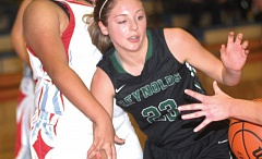 THE OUTLOOK: PARKER LEE - Reynolds Annie Luna works to grab a pass in the paint.