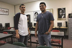 INDEPENDENT PHOTO: TYLER FRANCKE - Woodburn High School students Juan Manuel Angulo and Carlos Jovanni Ramirez (pictured) and Hunter Conlon were commended for their quick actions in coming to the aid of Wellness, Business and Sports School language arts teacher Art Pels earlier this month.