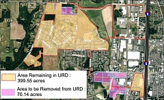 SUBMITTED PHOTO - Around 70 acres will be removed from the West Side Urban Renewal Area if the City Council approves an amendment to the area for a second time at its Feb. 1 meeting.
