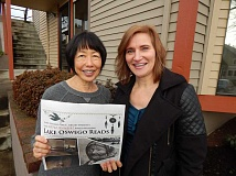 REVIEW, TIDINGS PHOTO: CLIFF NEWELL - Lynn Taylor, left, and Teresa Schader are committee members of Lake Oswego Reads. They will be leading the North American Inspired Art Tour.