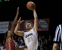 COURTESY: UNIVERSITY OF IDAHO - Arkadiy Mkrtychyan, a 6-7 sophomore from Columbia Christian High, has helped the Idaho Vandals be competitive in their second season of Big Sky basketball.
