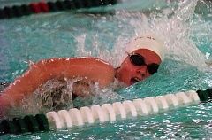 DAN BROOD - Sherwood's Emily Pannell is on her way to victory in the 200 individual medley.