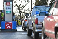 SPOKESMAN PHOTO: VERN UYETAKE - Rep. John Davis, R-Wilsonville, proposes implementing a 4 cent fuel tax across Oregon, and a 6 cent fuel tax in Portland.