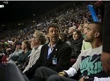 TRIBUNE FILE PHOTO - Terry Emmert checks out the crowd at a 2015 Portland Thunder Arena Football League game at Moda Center.