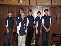 SUBMITTED PHOTO - From left to right: Josh Wolcott, Mike Church (Team Captain), Brock Riutta, Bailey Lewis, Jackson Walker. Front: Coach Mick McMahon