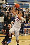 JEFF WILSON/THE PIONEER - Kanim Smith III erased any doubt about being healthy with his 22-point performance Friday night against Molalla. Smith had missed a couple of games with a sprained ankle.
