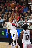 TRIBUNE PHOTO: JOSH KULLA - C.J. McCollum drives the lane Thursday in Portland's 110-103 loss to the Toronto Raptors. McCollum finished with 21 points and six rebounds.