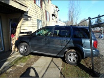 WASHINGTON COUNTY SHERIFF'S OFFICE - This Aloha apartment building was damaged by a driving lesson gone wrong Sunday morning.