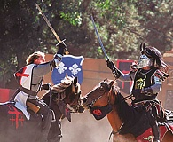 SUBMITTED - The joust became an iconic characteristic of the knight in Romantic medievalism, and jousting matches notably have been depicted in the movie 'Ivanhoe.'