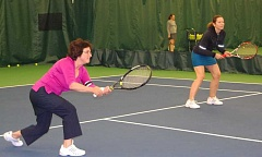 SUBMITTED PHOTO - Take advantage of the adult tennis clinics to improve your game.
