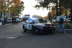 SUBMITTED PHOTO - More than 150 people turned out at World of Speed in Wilsonville last October to thank first responders of all stripes for their service.