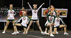 CONNECTION PHOTO: J. BRIAN MONIHAN - Wilson High cheerleaders danced, leaped and tumbled their way to second place at the state cheer championships.