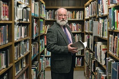 TIMES PHOTO: JONATHAN HOUSE - Writer David Ritchie, a longtime patron of the West Slope Library, will bring his one-act play - 'A Little Horseplay in the Library' - to the library on Saturday.
