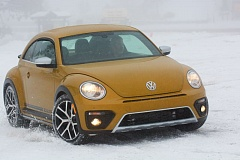 PAMPLIN MEDIA GROUP: JOHN M. VINCENT - Though the 2016 Beetle Dune lacks all-wheel drive, its confident front-wheel drive with traction and stability control works confidently in most conditions. The Dune features a slightly wider stance than a standard Beetle.