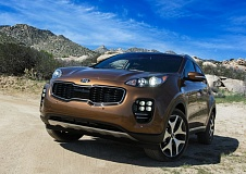 PAMPLIN MEDIA GROUP: JOHN M. VINCENT - The 2017 Kia Sportage touts a compete makeover, with a more vertical front end, and high-mounted headlight clusters. Ice-cube-like LED fog lights are available on the SX Turbo trim level.