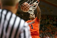 PAMPLIN MEDIA GROUP: DAVID BLAIR - Gary Payton II finished with 10 points and a game-high four steals during Oregon States 75-66 win over Arizona State on Wednesday.