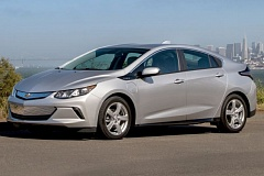 GENERAL MOTORS CORPORATION - The 2017 Chevy Volt has been redesiged to look more convention but still stylish, and it's all-eelctric range has been boosted to an impressive 53 miles.