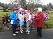 BARBARA SHERMAN - Members of the King City Women's Golf Club include (from left) Wendy Marchant, Diana Pliler, Florence Roberts and Marj Conroy; Roberts is an original golfer in the club, moving to King City in 1966.