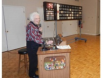 BARBARA SHERMAN - Marj Conroy has called bingo for many years for the King City Lions Club, and even though she is not a member, she has fun volunteering once a month.