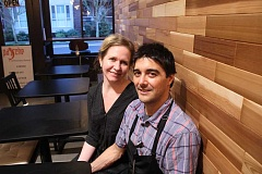 CONNECTION PHOTO: KELSEY O'HALLORAN - Casimira Tadewaldt (left) and Jose Luis de Cossio opened Paiche, a Peruvian eatery, in December.