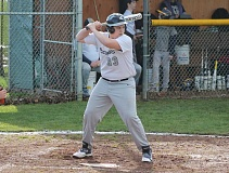 JIM BESEDA/MOLALLA PIONEER - Country Christian's David Girrens went 2 for 3 with a double and drove in three runs to help lead the Cougars to a season-opening 9-2 win over Delphian.
