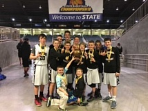 SUBMITTED PHOTO - The Sherwood seventh-grade basketball team won in the the Gold Division state championship during the March 4-6 statewide Bend tournament.