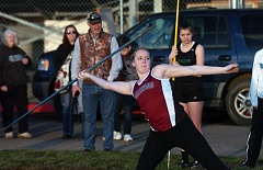 DAN BROOD - Junior Cali Crawford is part of the Sherwood High School girls group of throwers competing this track and field season.