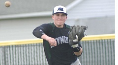 THE OUTLOOK: PARKER LEE - Reynolds Chase Strickland fires a throw across the infield to get a West Albany runner Monday.