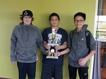 JONI DODD - Participating in the State Championship Individual Chess Tournament because of their high scores at regional are (from left) James Dodd, Alex Spurling and David Ma (not pictured is Nate Hicken).