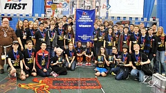 SUBMITTED PHOTO: LILYDOODLE PHOTOGRAPHY - Wilsonville Robotics team 1425 Error Code Xero finished second at the Pacific Northwest District Championships Saturday, April 9, earning them a spot in the 2016 FRC World Championships later this month.