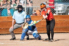 LON AUSTIN/CENTRAL OREGONIAN - Molalla's Makayla Kluken had a one-out double in the fourth inning of Friday's 10-2 Tri-Valley Conference loss to Crook County in Prineville.