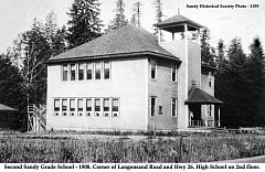 CONTRIBUTED PHOTO - The first Sandy High School graduating class was in 1917, three years after the opening of Sandy Grade School, where students of all ages attended. They were Dorothy Cooper, Sabra-Deaton Helms and Gertrude Meinig.