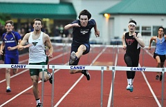 MATTHEW SHERMAN - Carter Bracken is one of the top hurdlers in the state again this year and won the long jump at last week's Laker Invitational.