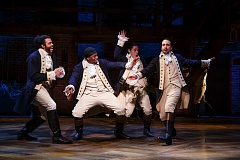 COURTESY: JOAN MARCUS - 'Hamilton,' coming here during the 2017-18 Broadway in Portland season, mixes modern-day music genres - hip hop included - with American Revolution stories. Book, music and lyrics are by Lin-Manuel Miranda.