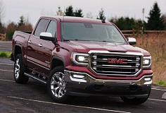 PORTLAND TRIBUNE: JOHN M. VINCENT - The 2016 GMC Sierra takes on an upscale, technical appearance compared to others in the marketplace. While all models feature GMC's signature LED daytime running lights, upper trims feature an abundance of chrome, along with unique grilles.
