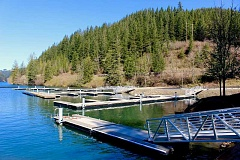 CONTRIBUTED PHOTO - Updates to Promontory Park Marina include new docks and a canoe and kayak launch. The park was closed for two years while Portland General Electric worked on fish passage and recreational improvements.
