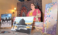 GARY ALLEN - Kristina Malmberg leads art classes and other life skills courses for people of all functioning levels, but especially for those with developmental disabilities, with her business, 'Yes You Can Creations.'