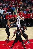 TRIBUNE PHOTO: EDDIE RUVALCABA - Austin Rivers gets off a jumper against the Trail Blazers in Game 1.