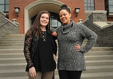 REVIEW PHOTO: VERN UYETAKE - Andrea Velasquez and Camryn Leland want to help Latino and black students at Lake Oswego High School by promoting cultural diversity.