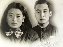 Serena Zhang's great-grandfather Wang Xi San and his wife Duan Cui Juan. (Wang is his last name; this is the Chinese way of writing it, Zhang explains.)